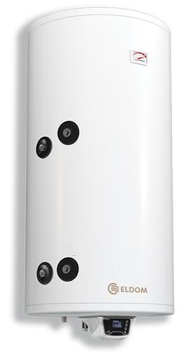 Снимка на Комбиниран бойлер 200 л, с електронно управление, ниска серпентина, емайлиран Eldom 72281SE