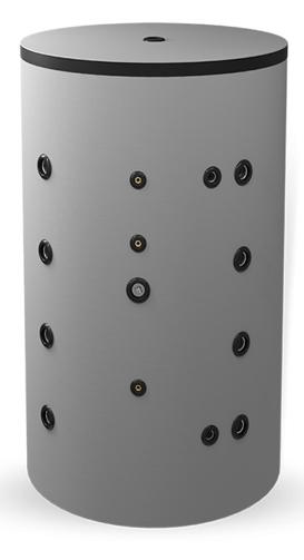 Снимка на Неемайлиран буферен съд 750л. с неръждаема гофрирана серпентина BCW 750K