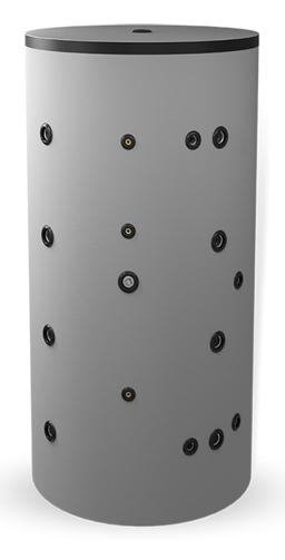 Снимка на Неемайлиран буферен съд 1000л. с една черна и една неръждаема серпентина Елдом BCWS 1000K