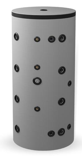 Picture of Неемайлиран буферен съд 1000 л. с една черна и една неръждаема серпентина BCWS 300K