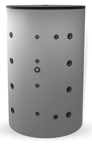 Снимка на Неемайлиран буферен съд 2000 л. с неръждаема гофрирана серпентина BCW 2000F