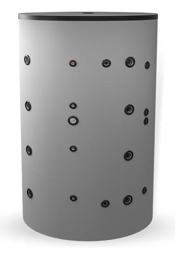Снимка на Неемайлиран буферен съд 1000 л. с две черни и една неръждаема серпентина BCWS2 1500F