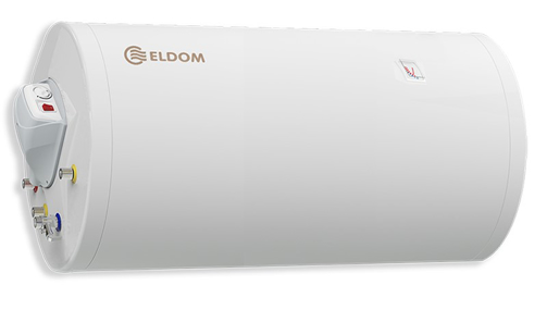 Picture of Комбиниран бойлер Елдом 72281XBS 200л.,3kw,Хоризонтален,Емайлиран,Хор. изводи серп., вода и ел. част ляво