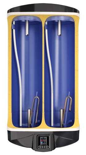 Снимка на Бойлер Eldom 100 л. 2.1kW + 1.2kW, плосък дизайн, универсален монтаж, ел. управление, емайлиран, DU100 + 6 години гаранция