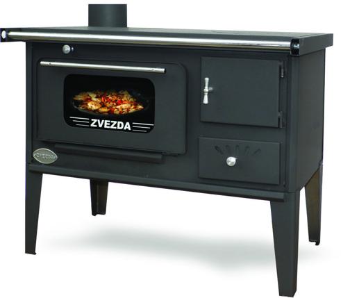 Снимка на Готварска печка на дърва Звезда Народна Стоманен Плот (СП) Стъкло, 6kW